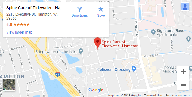 Map of Hampton Chiropractors